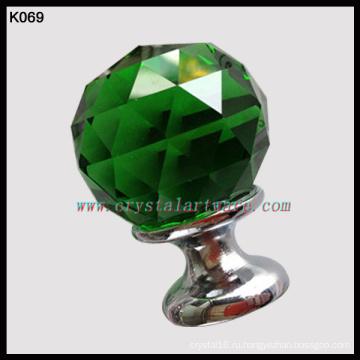 зеленое стекло хрустальный шар ручки толчок тянуть ручки оптом