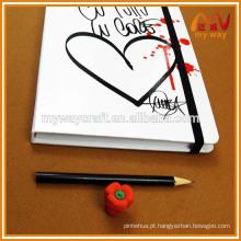Caráter de diário de capa dura personalizado com cordão elástico feito na China