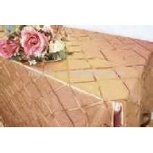 Taffeta pintuck tablecloth (4'' Square) , outdoor tablecloth,Hotel/Banquet table cover