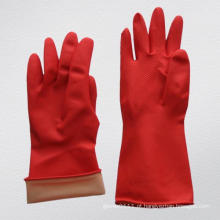 Red Rough revestido em Palm Household Latex Work Glove