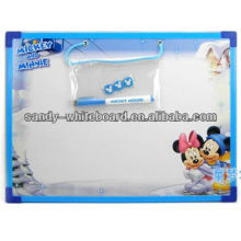 white magnetic board with plastic frame
