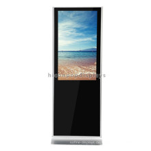 Custom Shopping Mall Bodenbelag Stand Alone Free Design Metall Touchscreen Lcd Werbung Display Stand