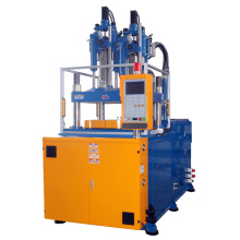 Two colors rotary table injection molding machine