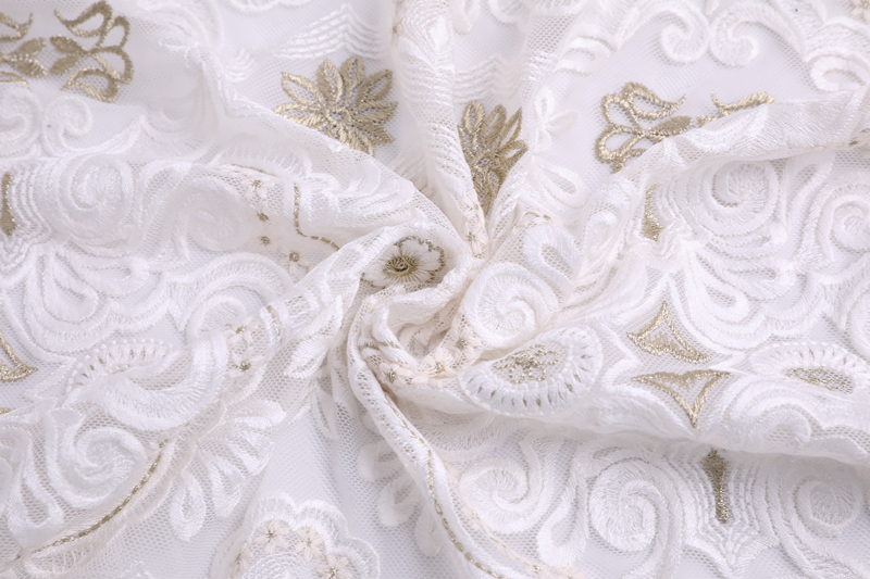 Compound Silk Thread Embroidery Fabric