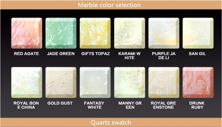 6 Marble Color Options