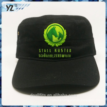 Solf felt army hat with green logo good quality make in china
