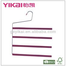 Набор из 3шт EVA пены покрытием металлических брюк вешалка с 4 ярусами брюк бар