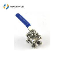 JKTL3B044 spring loaded 3 piece water tank ss316 ball valve lockout