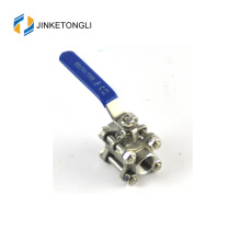 JKTL3B044 primavera carregado 3 peça tanque de água ss316 válvula de esfera de bloqueio