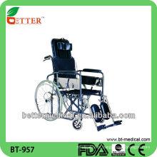 Cadeira de rodas reclinável de aço