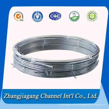 Bobina de aluminio 1050 tubos para intercambiador de calor
