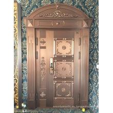 Puerta de cobre de entrada de lujo con diseño nuevo