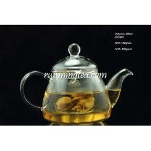 Borosilicate Gourd Shape Glass Pot with Glass Insert Filter, 300ml/pot