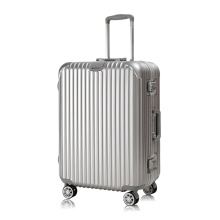 China Luggage Factory High Quality Aluminum Frame PC Trolley Luggage