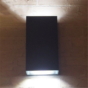 Square Simple - Lámpara de pared LED para exteriores, negro