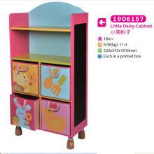 Gabinete de armazenamento de gabinete de madeira para crianças para crianças