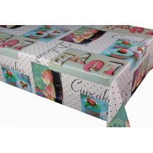 Housses de table ajustées imprimées en pvc Coton Polyester