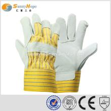 Sunnyhope 10,5 Zoll volle Palme Kuh Split Sicherheit Rigger Handschuhe