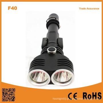 F40 alumínio 10W Xml T6 LEDs 1200lumens lanterna tática ao ar livre