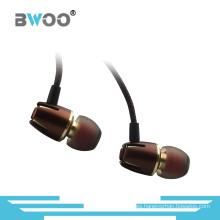 Nuevo auricular interno de alta calidad de metal de 3,5 mm estéreo de 3.5 mm