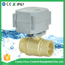"""2 Way 3/4"""" Inch Dn20 Automatic Electric Water Shut off Valve Motorized Ball Valve"""