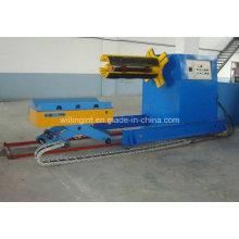 Decoiler hydraulique de haute qualité de 10 tonnes avec la voiture de bobine