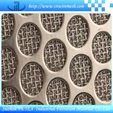 Feuille de treillis métallique frittée perforée