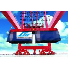 Quaiside Utilisation de la grue Distributeur de conteneurs à double étale