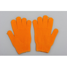 Beste Arbeit Baumwollhandschuhe China Großhandel Orange Handschuh