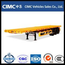 Cimc 40FT Flat Bed 3 Axles Полуприцеп контейнеровоз