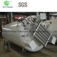 1,26MPa Pressão de trabalho Camada exterior interna LNG Tanque de líquido criogênico
