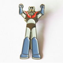 Robot Metal Robot Lapel Pin dengan Black Nickle Plated