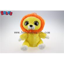Große Augen Gelbe Löwe Plüsch Angefüllte Tier Spielzeug in Großhandel Preis Bos1171