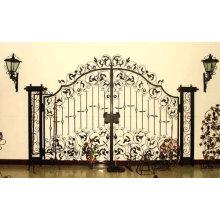 Porte décorative en fer forgé avec métier en fer métallique