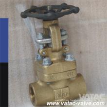 Válvula de compuerta de bronce forjado (CL800)