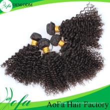 Natural Black 24 '' Mongolische Haar Produkt Bulk Hair Extension