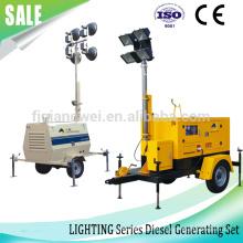 Torre de iluminação industrial, gerador de torre a diesel, venda quente de 9kw