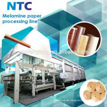 Dekorative Melamin Papier Verarbeitungsmaschine / Papier Imprägnierung Linie
