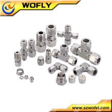 Gás de alta pressão todos os tipos de tubos e acessórios de compressão
