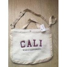 Canvas Shoulder Bag Embroidery Simple Cloth