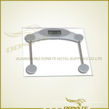 Escala de peso digital de vidrio cuadrado