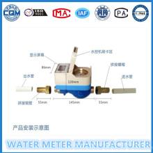 Medidor de água de pré-pagamento para uso residencial