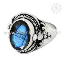Glitter Blue Labradorite Ring 925 Bijoux en argent Bijoux en argent indien