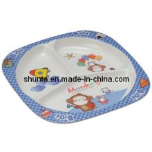 100% Melamine Dinnerware- Kid′s Tableware Children 3-Divided Plate (BG803)