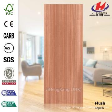JHK-F01 De Boa Qualidade Flat Red Sapelli Deep Natural HDF Fábrica Fábrica Pele Porta