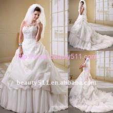 Astergarden photo authentique Organza Beading Robe de mariée AS048