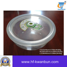 Alta caixa de vidro de borossilicato com tampa de plástico Kb-Jh06095