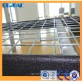 Estante de almacenamiento industrial recubierto de polvo con cubierta de alambre zincado