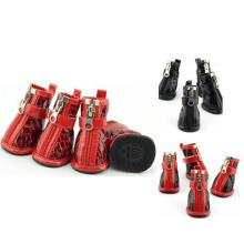 Waterproof Antiskid Zipper Pet Shoes, Pet Supply