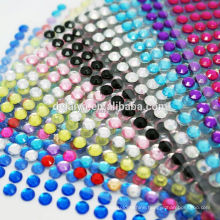 Wholesale shining round rhinestone stickers for Decoration